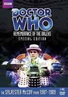Imagen de portada para Doctor Who [videorecording DVD] : Remembrance of the Daleks