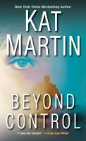 Cover image for Beyond control. bk. 3 : Texas trilogy series