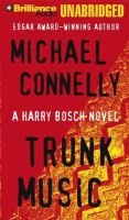 Cover image for Trunk music. bk. 5 Harry Bosch series