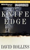 Cover image for A knife edge. bk. 2 Vin Cooper series