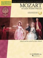 Cover image for Mozart : 15 easy piano pieces