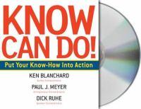 Imagen de portada para Know can do! put your know-how into action