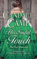 Cover image for His sinful touch. bk. 5 [large print] : Mad Morelands series