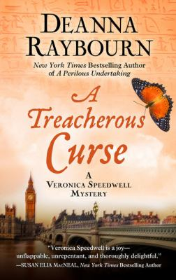 Cover image for A treacherous curse. bk. 3 [large print] : Veronica Speedwell mystery series
