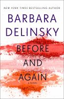 Cover image for Before and again [large print]