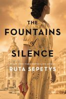 Cover image for The fountains of silence [large print]