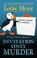 Cover image for Invitation only murder. bk. 26 [large print] : Lucy Stone mystery series