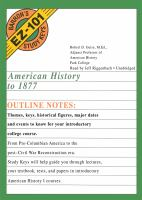 Cover image for American history to 1877 outline notes