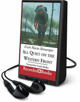 Cover image for All quiet on the western front