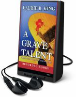 Cover image for A grave talent. bk. 1 Kate Martinelli series