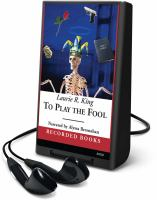 Cover image for To play the fool. bk. 2 Kate Martinelli series