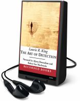 Cover image for The art of detection. bk. 5 Kate Martinelli series