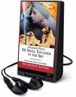 Cover image for He shall thunder in the sky. bk. 12 Amelia Peabody series
