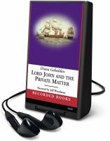 Imagen de portada para Lord John and the private matter. bk. 1 Lord John Grey series