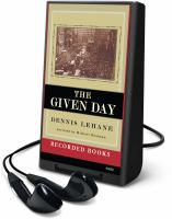 Cover image for The given day