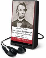 Cover image for Lincoln on leadership executive strategies for tough times