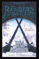 Imagen de portada para The siege of Macindaw. bk. 6 The Ranger's apprentice series