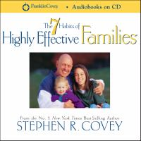 Cover image for 7 habits of highly effective families