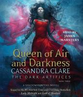 Cover image for Queen of air and darkness. bk. 3 [sound recording CD] : Dark artifices series