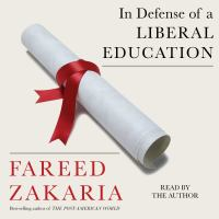 Cover image for In defense of a liberal education