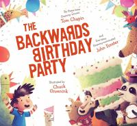 Cover image for The backwards birthday party
