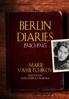 Cover image for Berlin diaries, 1940-1945