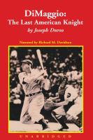 Cover image for DiMaggio the last American knight
