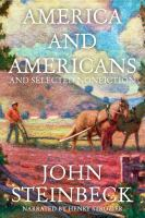 Cover image for America and Americans and selected nonfiction