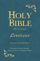 Imagen de portada para Holy Bible Leviticus.