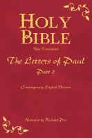 Cover image for Holy Bible the Letters of Paul. Part 2.