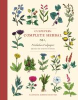 Cover image for Culpeper's complete herbal
