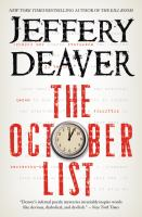 Cover image for The October list a novel in reverse with photographs by the author