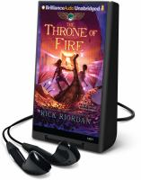 Cover image for The throne of fire. bk. 2 The Kane chronicles