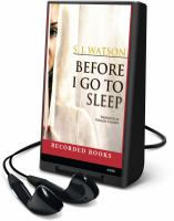 Cover image for Before I go to sleep
