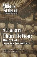Cover image for Stranger than fiction the art of literary journalism