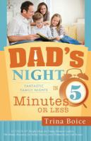 Cover image for Dad's night : Fantastic family nights in 5 minutes or less