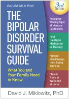 Cover image for The bipolar disorder survival guide : what you and your family need to know