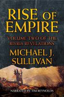 Cover image for Rise of empire. bk. 2 [sound recording CD] : Riyria revelations series