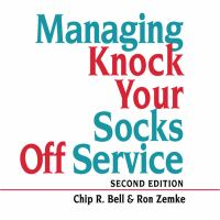 Cover image for Managing knock your socks off service