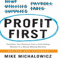 Cover image for Profit first transform your business from a cash-eating monster to a money-making machine