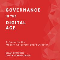 Cover image for Governance in the digital age a guide for the modern corporate board director