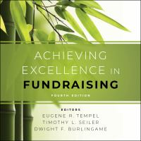 Imagen de portada para Achieving excellence in fundraising 4th edition.
