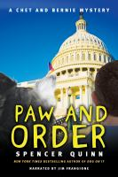 Cover image for Paw and order. bk. 7 [sound recording CD] : Chet and Bernie series