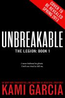 Cover image for Unbreakable Legion Series, Book 1.