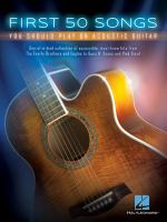 Cover image for First 50 songs you should play on acoustic guitar.