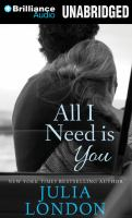 Cover image for All I need is you
