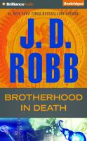 Imagen de portada para Brotherhood in death. bk. 42 [sound recording CD] : In death series