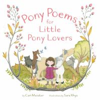 Cover image for Pony poems for little pony lovers