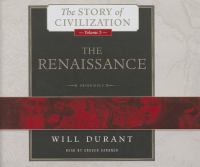 Cover image for The Renaissance. Vol. 5 [sound recording CD] : Story of civilization series