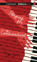 Cover image for Playing for the commandant [sound recording CD]